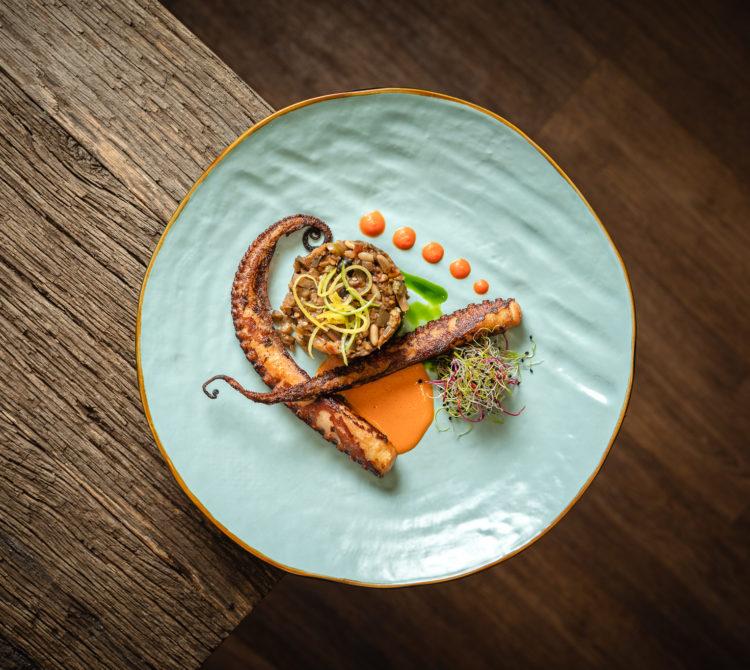 M Restaurant Bar Genève Poulpe grillé